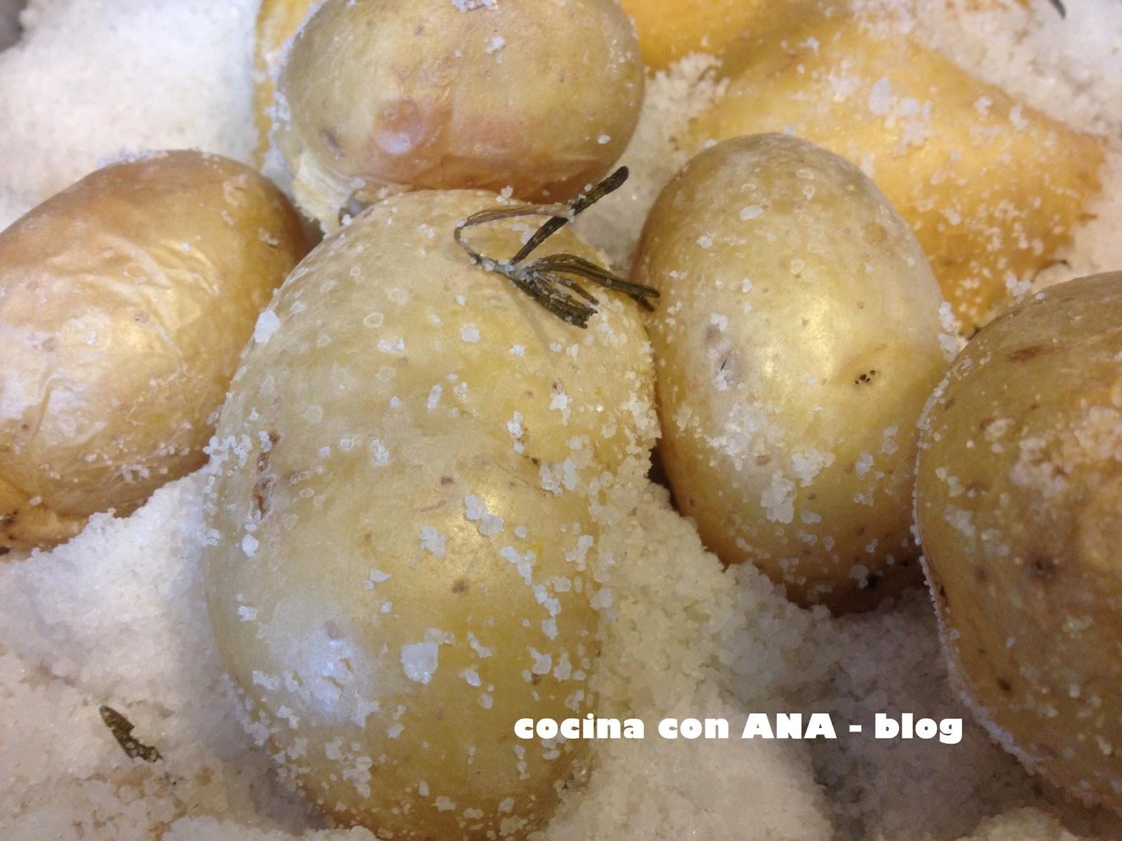 Cocina con ana patatas asadas a la sal - Ana cocina facil ...