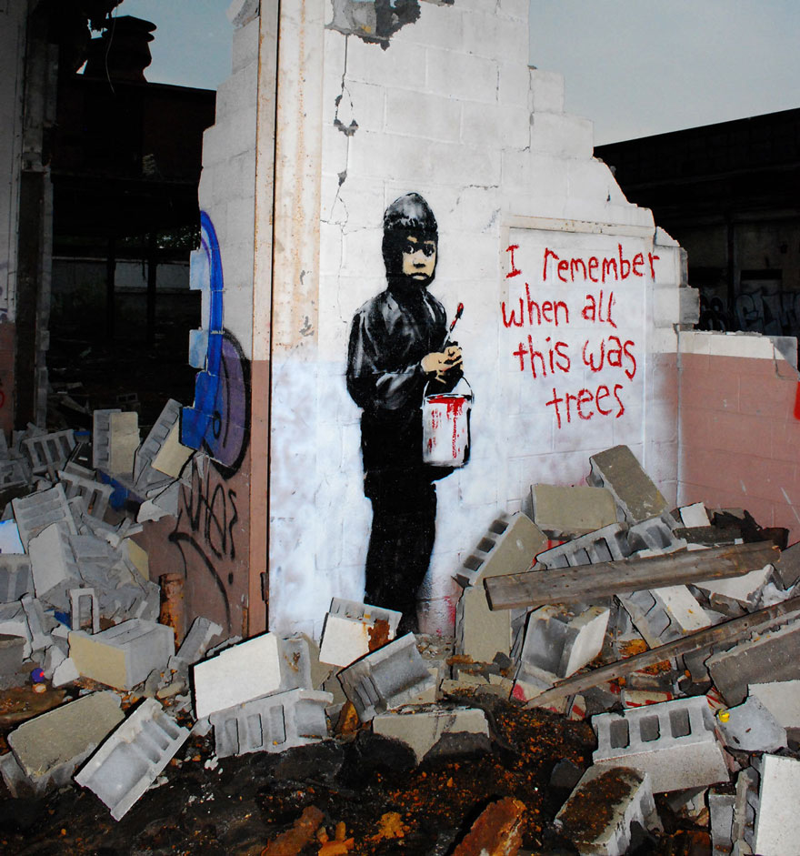 These 30+ Street Art Images Testify Uncomfortable Truths - Remember When This Was All Trees?
