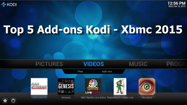 Top 5 Add-ons Kodi / Xbmc 2015 download and how to install - Tutorial ...