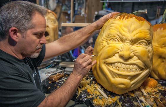 ハロウィンのかぼちゃ、プロが作った本物のかぼちゃアートをご覧あれ