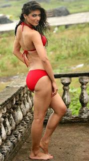 madhurima tuli in red bikini