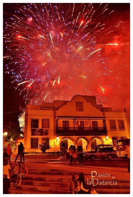 Fuegos Calle del Medio Los Realejos Día de la Cruz 2013