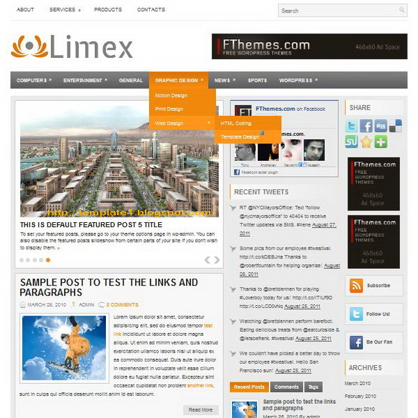 Limex WordPress Theme