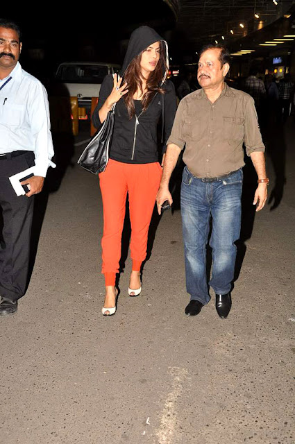 Priyanka Chopra snapped at the International Airport in Different Getup