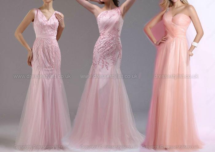 Vestidos de festa rosas, pink prom dresses