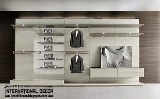 modern Wardrobe systems, closet designs for dressing room