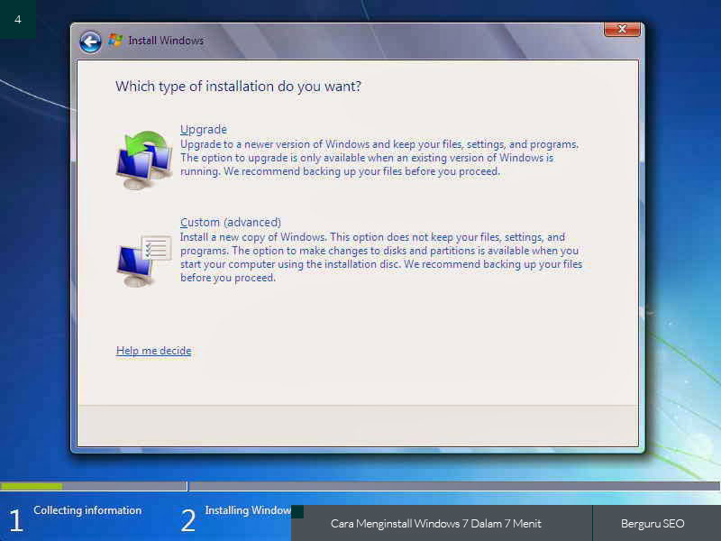 Cara Menginstall Windows 7 gambar 4