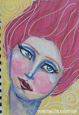 Drawing and Painting Beautiful Faces- Jane Davenport- blowing hair