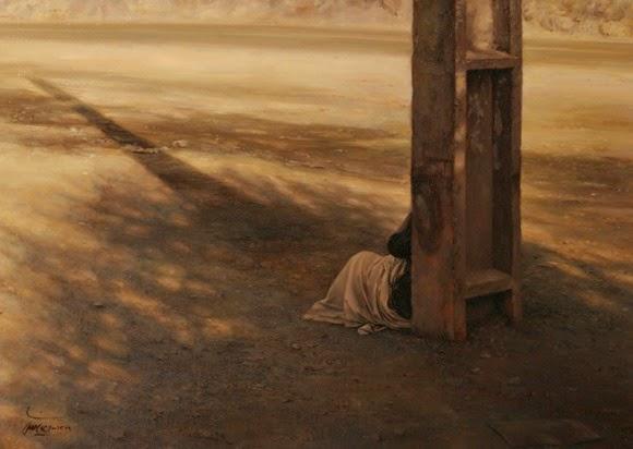 Lukisan Realisme Iman Maleki Artwork