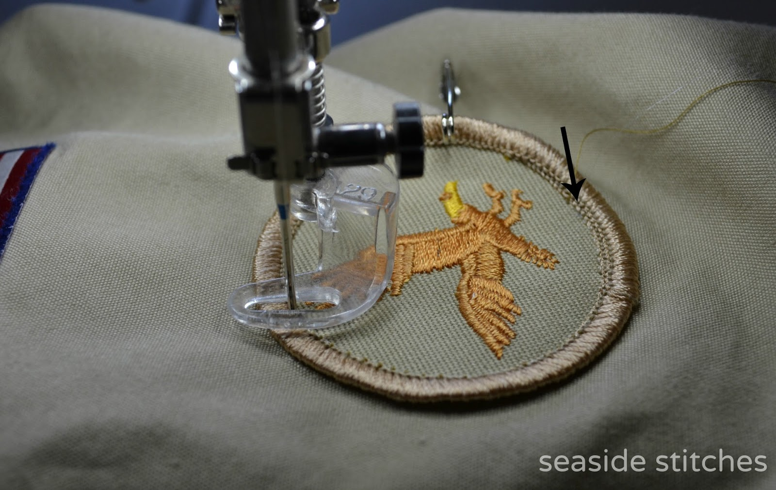 how to patch with a sewing machine
