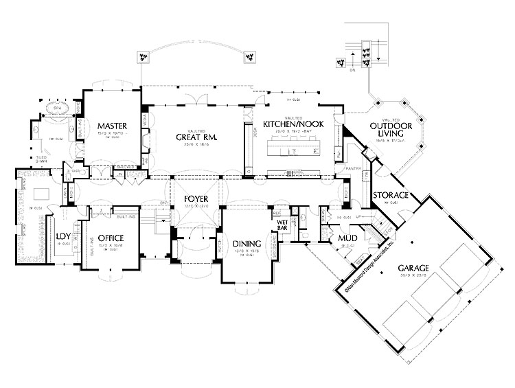 House plans luxury house plans One level luxury house plans