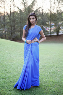 Actress Neelam Upadhyay Latest  Picture Gallery in Blue Saree  0003
