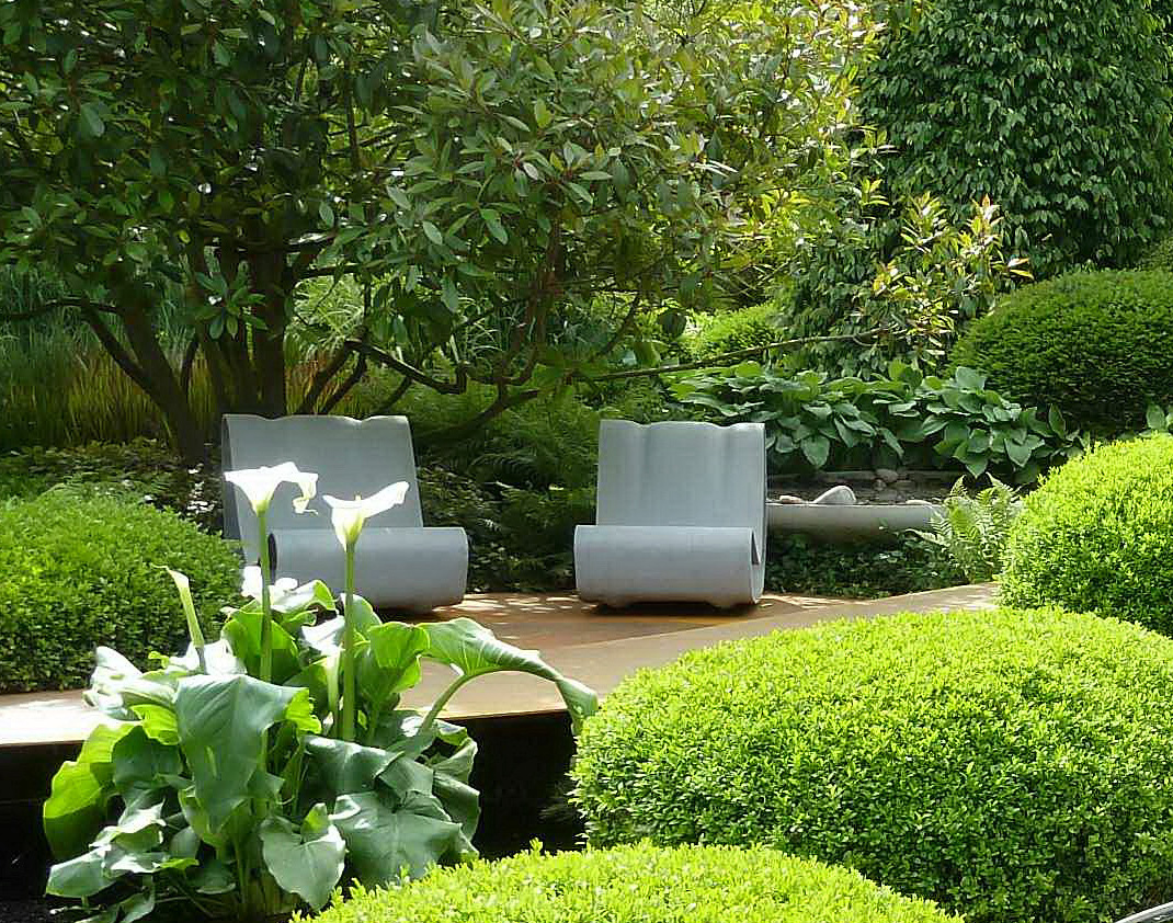 Interior decorating pics modern gardens for Modern landscape ideas