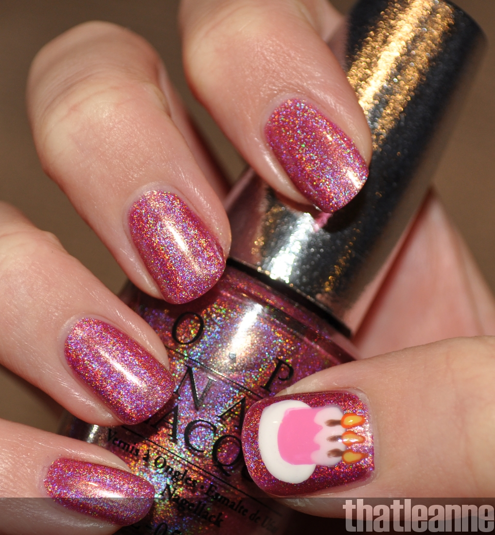 Nail Design Cakes: Thatleanne: Birthday Cake Nail Art Feat. OPI DS Signature