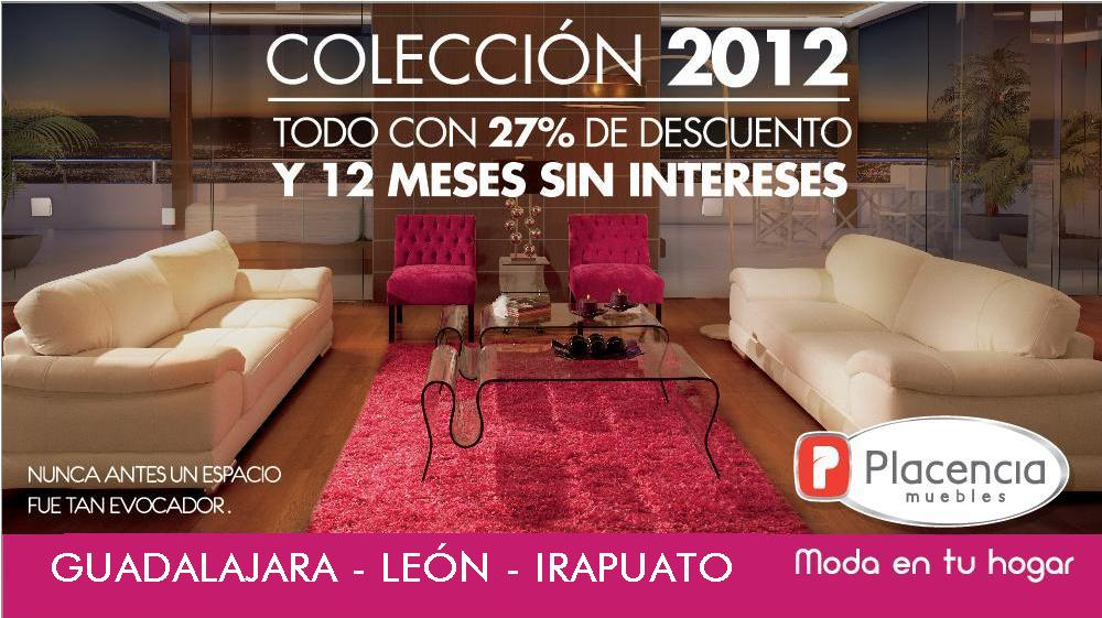 Colecci n 2012 placencia muebles for Muebles por catalogo