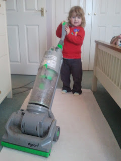 Toddler hoovering