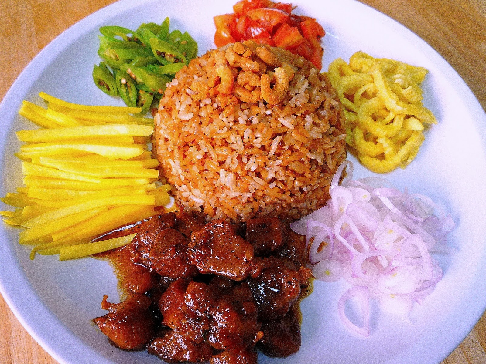 Food wanderings shrimp paste fried rice with green mangoes shrimp paste fried rice with green mangoes ccuart Image collections