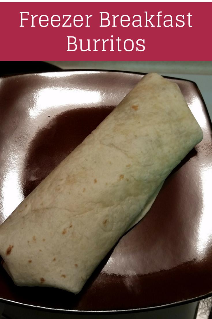 Freezer Breakfast Burritos. Great weekday prepared breakfasts.