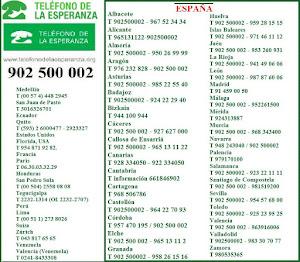 TELÉFONO DE LA ESPERANZA 902 500 002