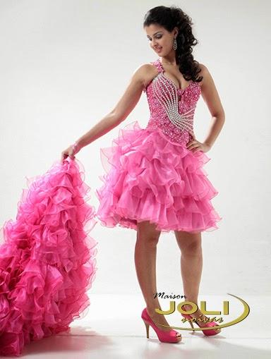 modelo de vestido rosa com saia removível - fotos e dicas