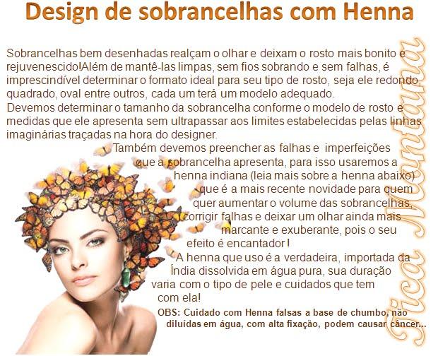 DESIGN DE SOBRANCELHAS COM HENNA by TICA MONTANA