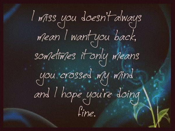 i miss you beautiful