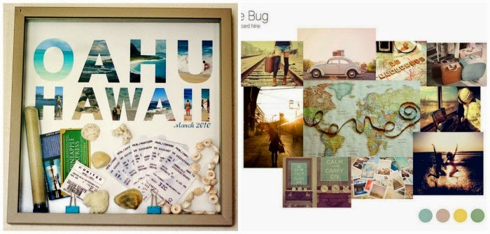 Travel Mood boards photos