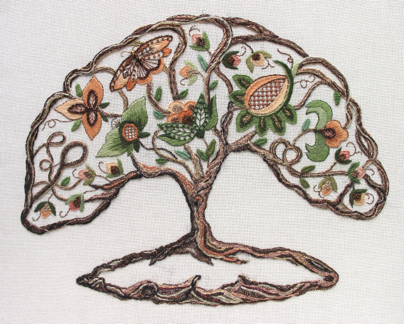 Kreinik Thread Blog Tree Of Life Like Stitches