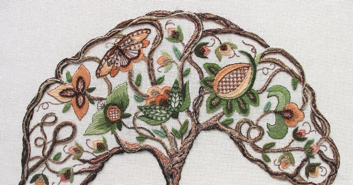 Kreinik thread tree of life like stitches