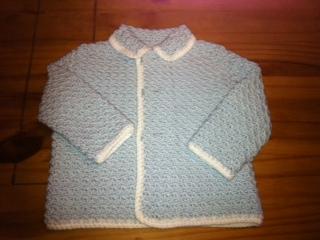 vintage baby crochet cardigan