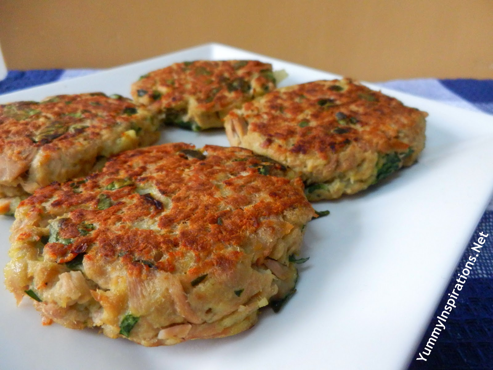 Tuna and spinach burgers yummy inspirations for Canned fish recipes