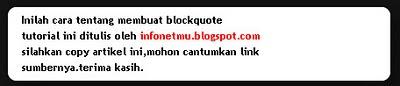 Cara Membuat Blockquote Dengan CSS