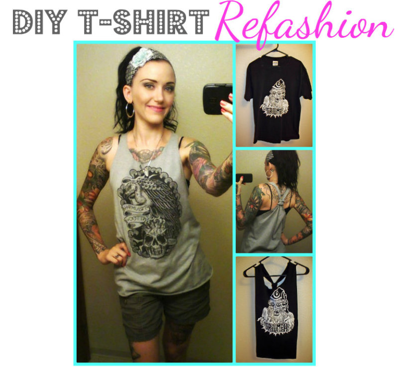 5a709554c0ede It s the 1st of August   I have an easy tutorial for you. I m going to show  you how to turn an old (or new) t-shirt into a ...