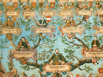 A decorated family tree