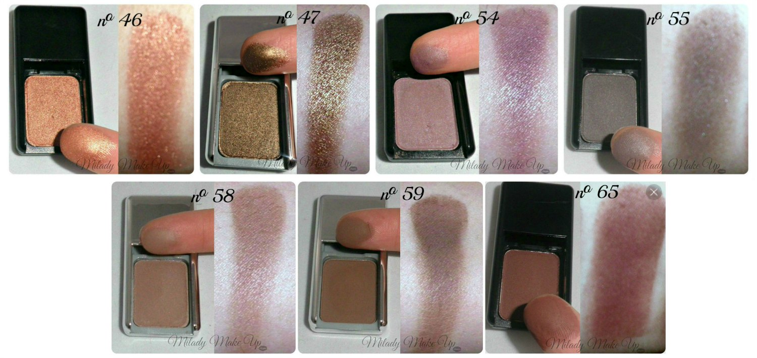 Swatches sombras pierre rene