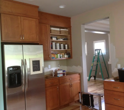 Closing the space above kitchen cabinets the for Kitchen cabinets 42 high
