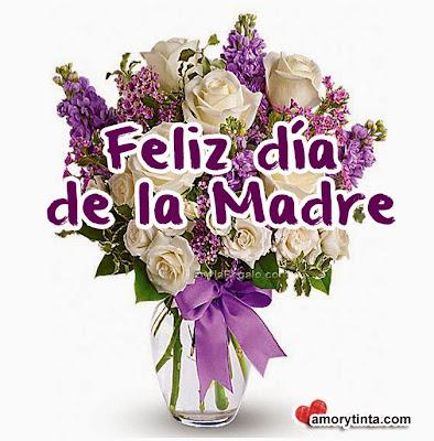 Flores moradas  para el día de la madre