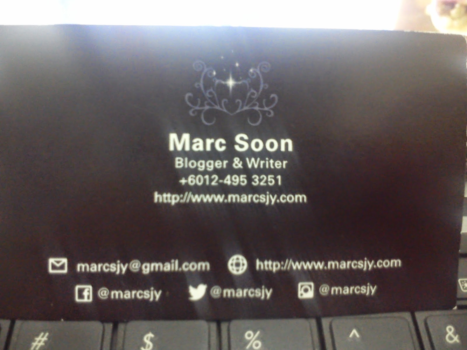 My Breakthrough- personal name card