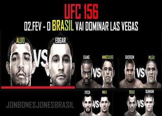 UFC 156 - Aldo vs Edgar - Minotouro - Pezão - Demian Maia