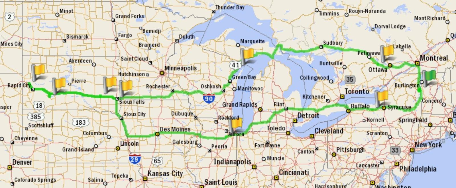 3 835 miles total