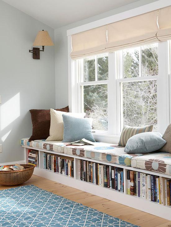 biblioteca, guardar livros, books storage, armazenamento, banco com espaco para livros, livros abaixo do banco