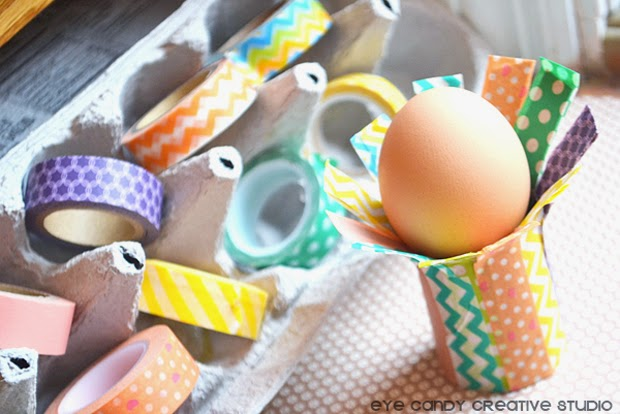 easter eggs, easter crafting, washi tape, easter project, kids craft