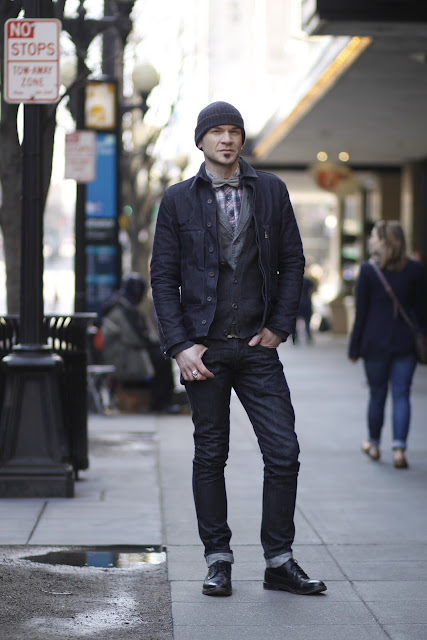 Gregory Moon Artist Photographer dark denim raw seattle street style fashion