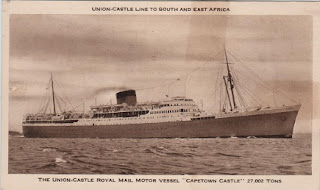 "Vintage postcard of the Union Castle Line RMMV, ""Capetown Castle"""