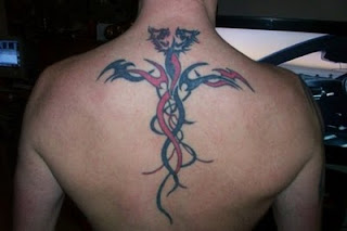 Tribal back Dragon Tattoo