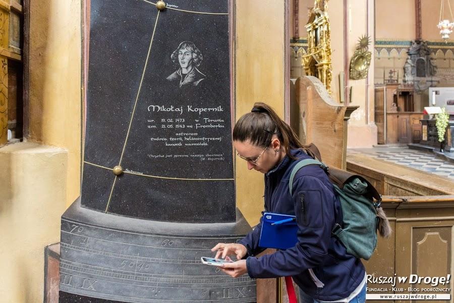 Katedra we Fromborku - grób Mikołaja Kopernika