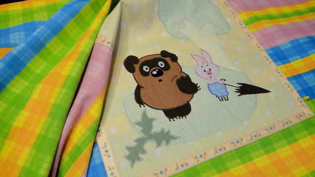 Яркое постельное белье на заказ, детский комплект в кроватку - размеры и расцветки на усмотрение заказчика