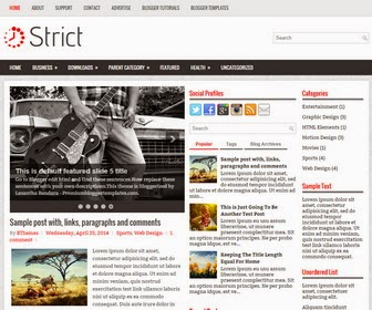 Strict is a Simple and Elegant, Responsive, 3 Columns Blogger Template for Personal Blogs or Other. Strict Blogger Template has a jQuery Featured Content Slider, Top Menu and Drop-down Menu , Header Search Box, Related Posts, Breadcrumb, 3 Columns Footer,