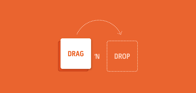 how to drop and drag in html5