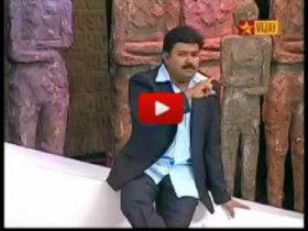 bayathil alari odiya vijay tv neeya naana gopinath video, Viral video of tamil tv anchor Gopinath afraid in front of camera, Gopinath's unseen videos, gopinath rare videos, neeya naana interesting scene